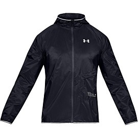 under armour ua qualifier storm packable hardloopjack heren black