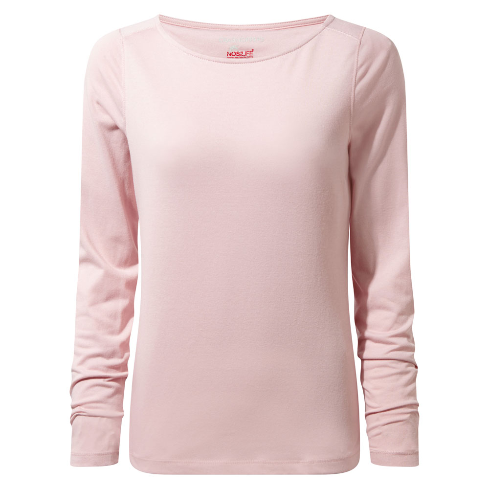 Afbeelding van Craghoppers NosiLife Erin Long Sleeved Shirt Dames Blossom Pink