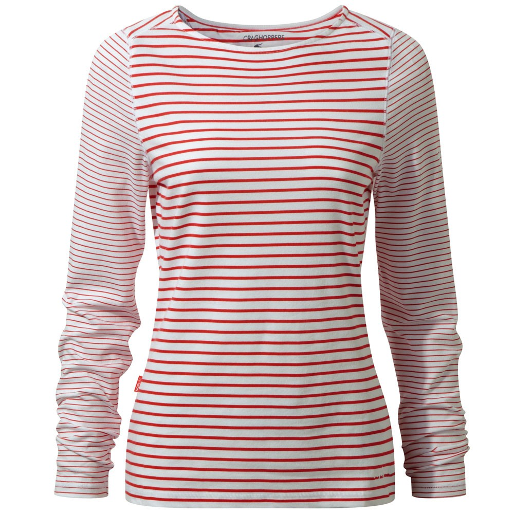 Afbeelding van Craghoppers NosiLife Erin Long Sleeved Shirt Dames Fiesta Red Combo
