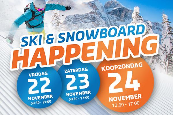 Ski & Snowboard Happening 22, 23 en 24 november