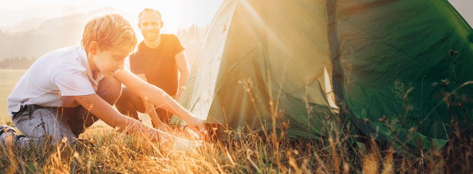 Korting op weekend kamperen bij aanschaf van een vouwwagen of tent!