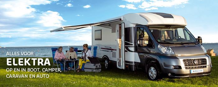 Alle denkbare elektra artikelen die handig en benodigd zijn in auto, caravan, camper en boot heeft De Wit Schijndel.
