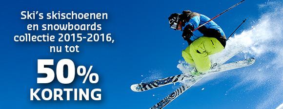 Tot 50% korting op de wintersportcollectie uit 2015-2016!