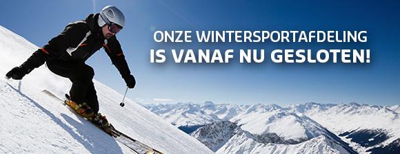 Onze Wintersport afdeling is gesloten!