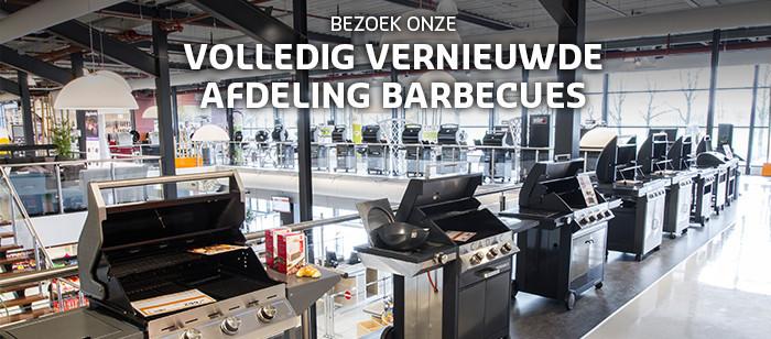 Bezoek onze volledig vernieuwde afdeling barbecues!