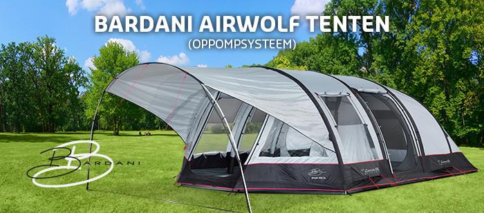 Bardani Airwolf, tenten met handig oppompsysteem.