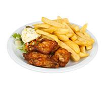 Kippenvleugels met frites