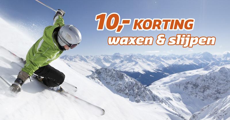 Actie! Waxen en slijpen ski's en snowboard vanaf € 9,95