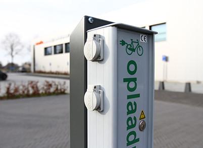 Gratis oplaadpunt fiets en scootmobiel