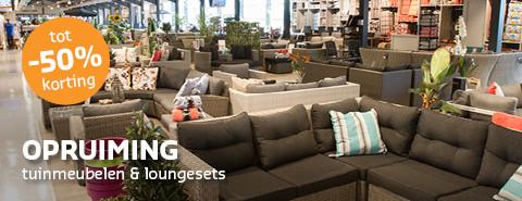 Opruiming tuinmeubelen en loungesets!